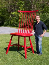 large windsor chair