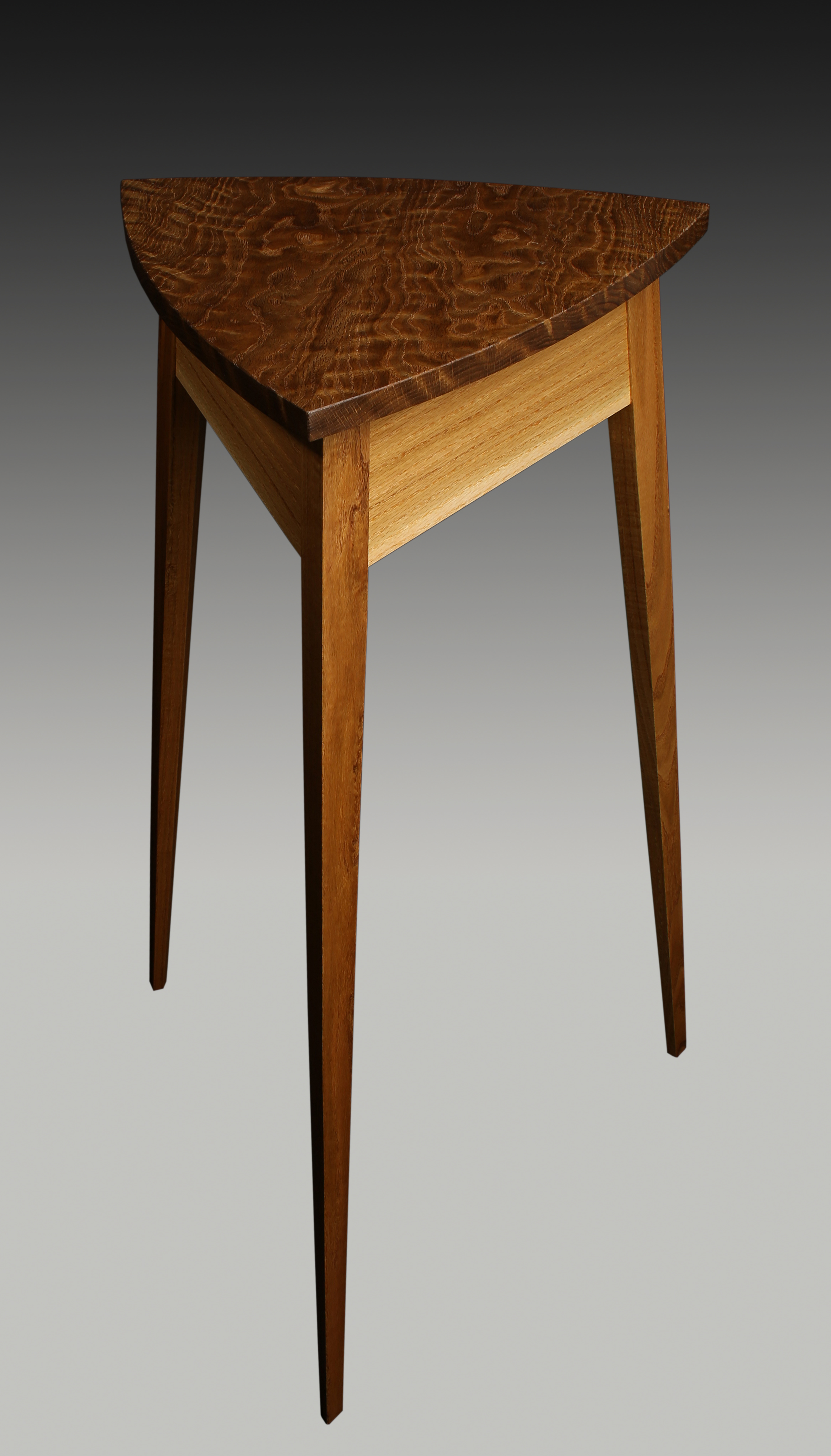 Curly Oak Plant Stand Guild Of Vermont Furniture Makers