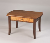 Walnut coffee table. Regency style.