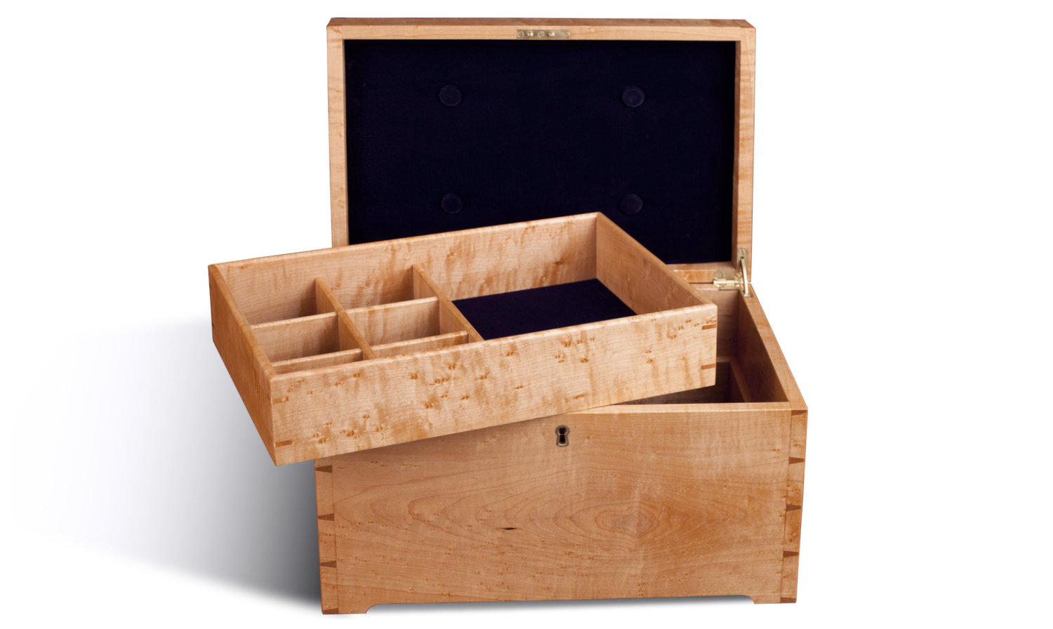 Birdseye Maple Jewelry Box