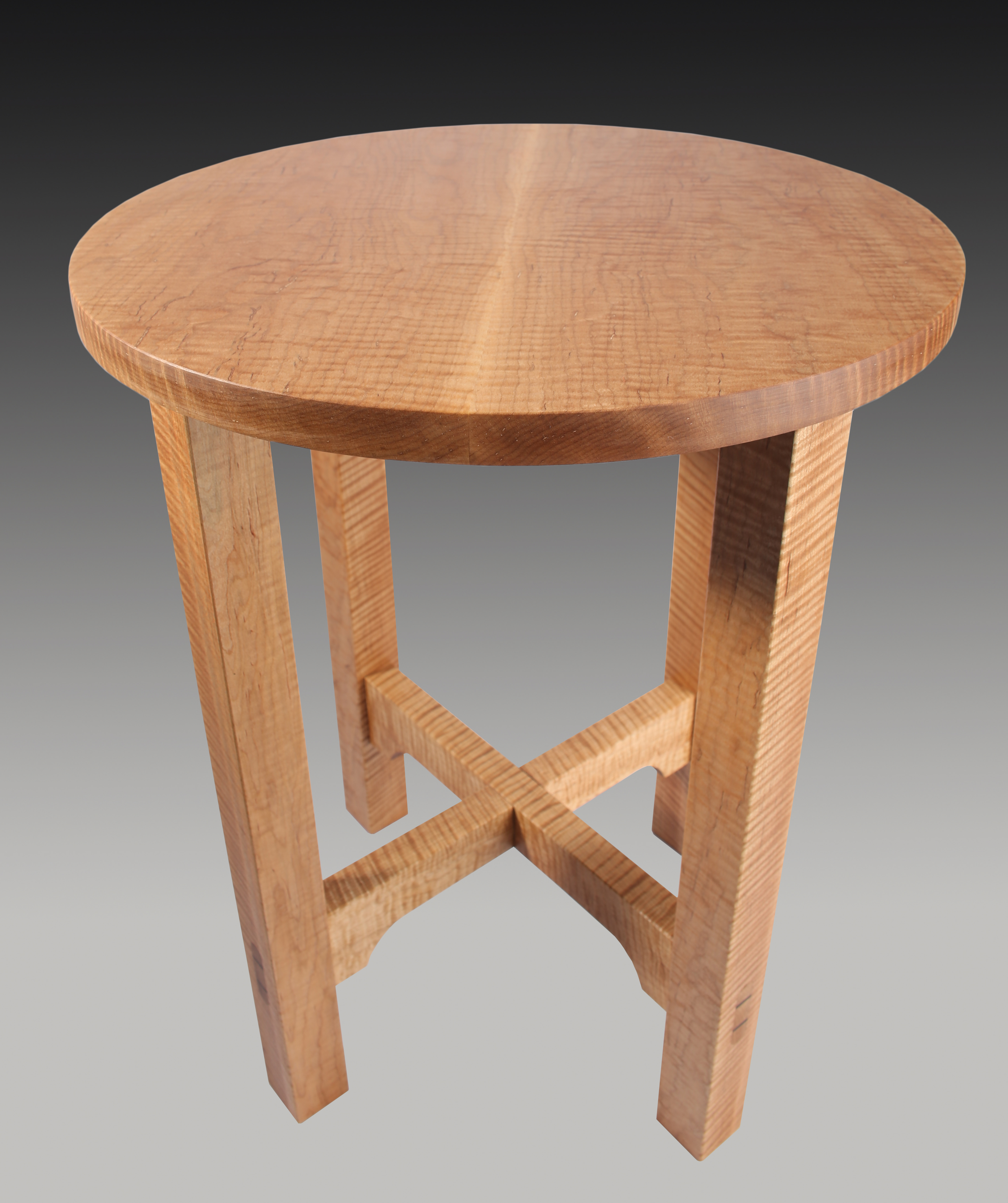 Curly Maple Tabouret Table Guild Of Vermont Furniture Makers