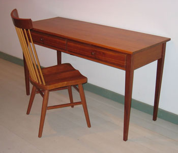 shaker-writing-desk-54x22-spindle-back-chair-350