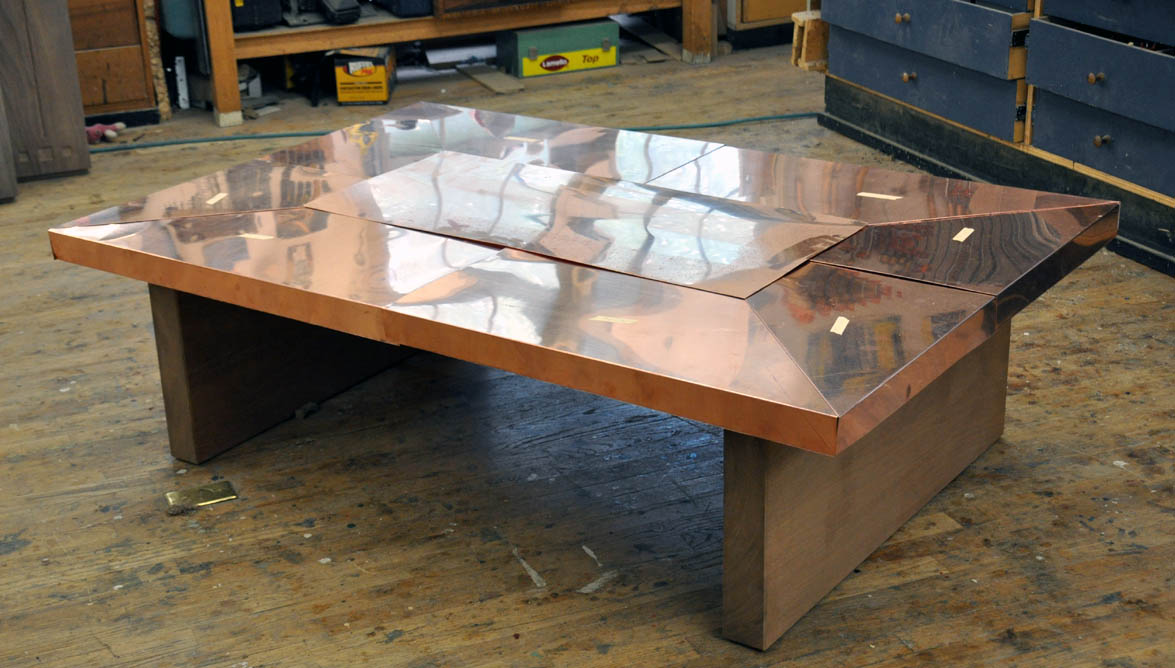 A Few Claro Walnut Tables And One With Copper Guild Of Vermont Furniture Makers