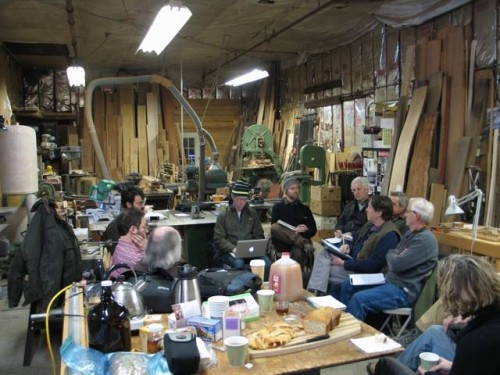 January 2014 meeting at David Hurwitz's workshop in Randolph, VT