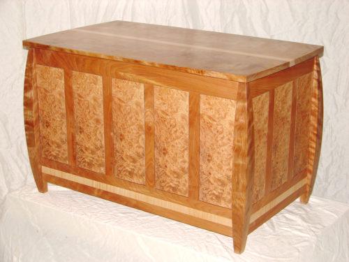 Maple burl blanket chest