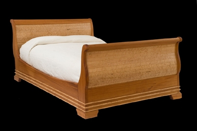 Gasperetti Sleigh Bed - Maple & Mahogany