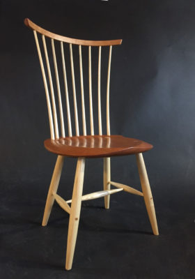 windsor chair, modern, cherry, ash, vermont, Timothy Clark