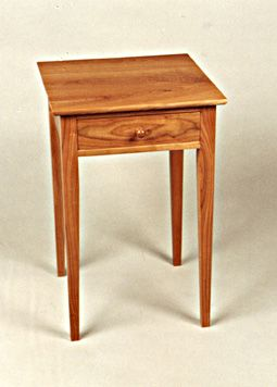 Shaker Cherry Nightstand with Drawer | Wilson Woodworking | Vermont