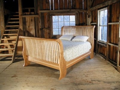 Vermont Sleigh Bed by Brookside Woodworking