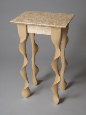 Sugar Maple Taffy Table by David Hurwitz