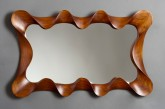 Large Walnut Taffy Mirror by David Hurwitz