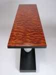 Quilted bubinga table top, by David Hurwitz Originals, Randolph, Vermont