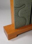 Hand carved Vermont unfading green slate by Kerry O. Furlani