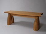 Handmade contemporary outdoor bench, designed and made in Vermont by David Hurwitz