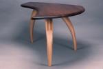Arden Writing Desk, carved ash, walnut top, by David Hurwitz, Randolph, Vermont