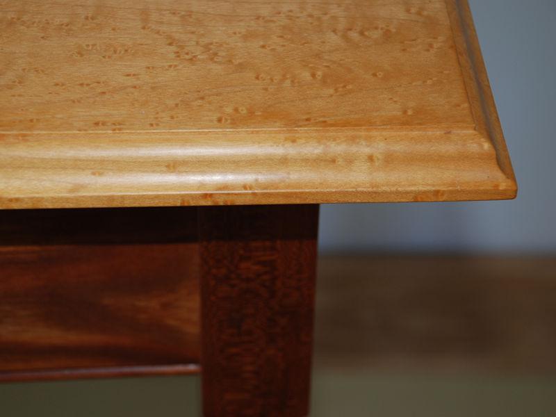 Birdseye Maple Side Table Hawk Ridge Furniture St