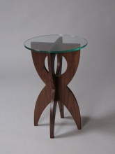 Elroy End Table in walnut, by David Hurwitz, Randolph, Vermont