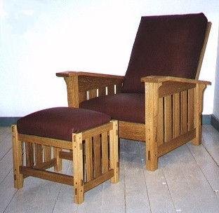 Morris Chair With Ottoman Richard Bissell Fine Woodworking