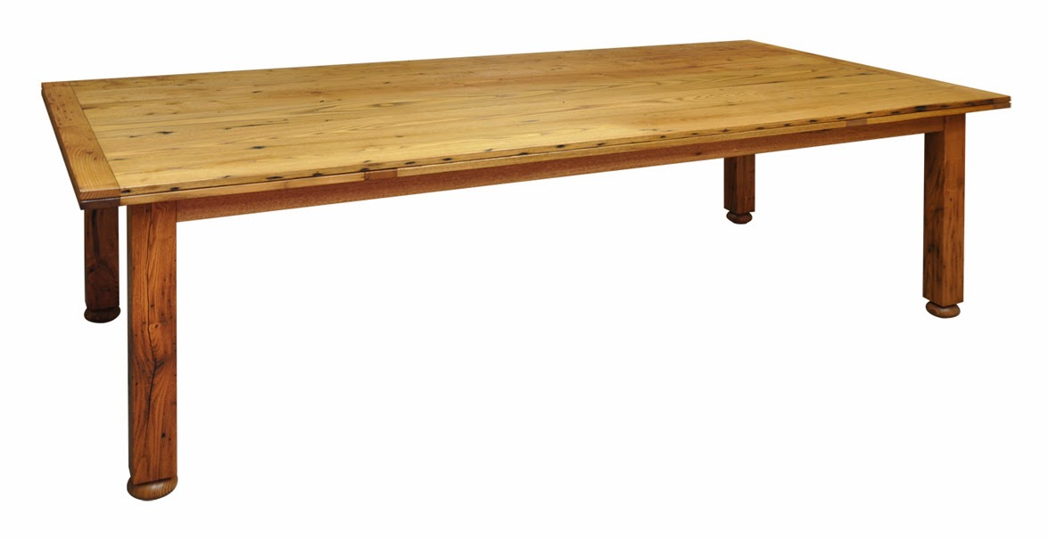 Dining Table W Self Storing Leaves, Dorset Furniture Makers