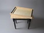 Matching serving tray, by David Hurwitz, Randolph, Vermont