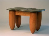 Carved Vermont Slate and Cherry Coffee Table, by David Hurwitz and Kerry O. Furlani
