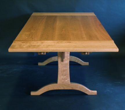 cherry,trestle table