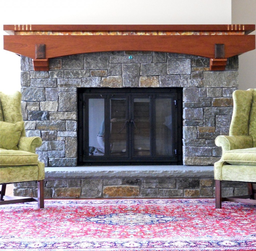 Chip Ogg Custom Arts & Crafts Mantel with Detail