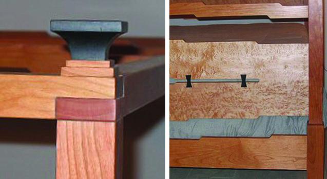 Richard Bissell Fine Furniture Craftsman Bed Details