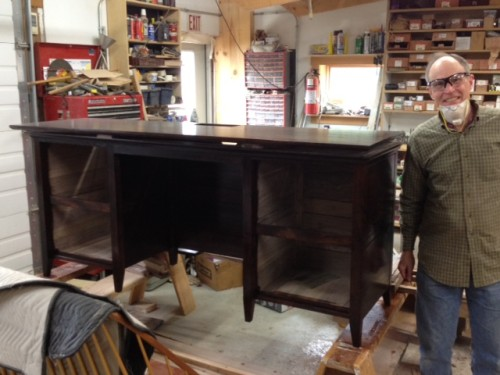 At work with a master furniture maker