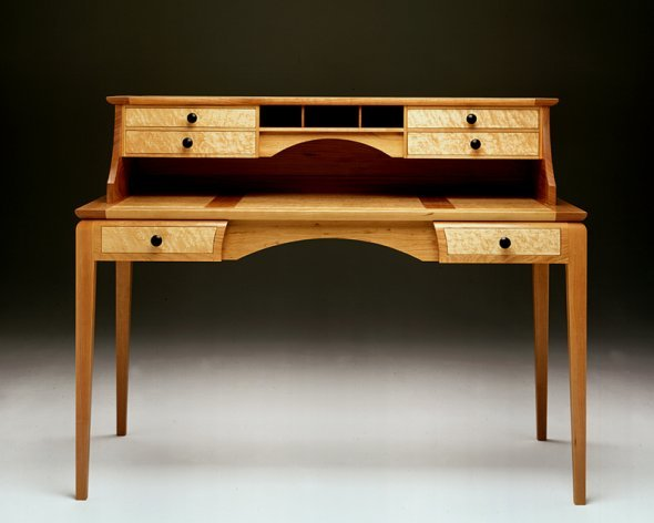 Custom Cherry and Maple Desk Made in Vermont