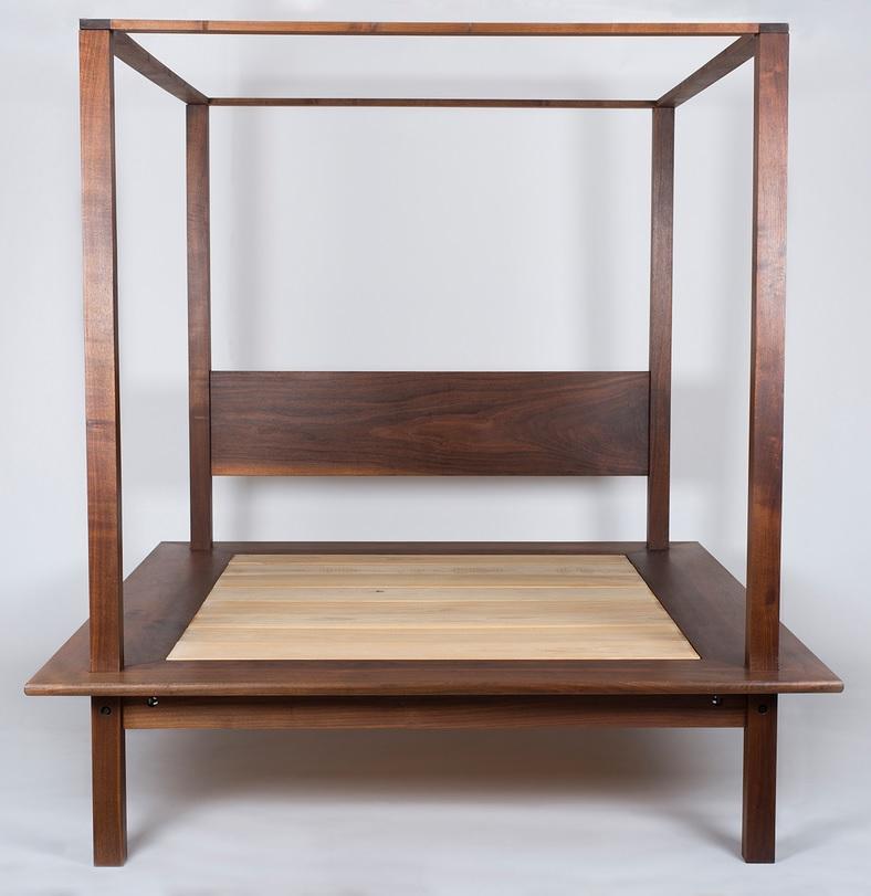 Handmade Walnut Platform Bed