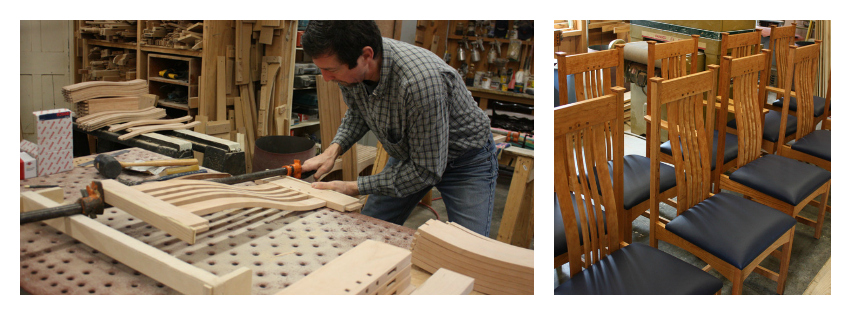 Custom Arts & Crafts, Mission Furniture made in Vermont