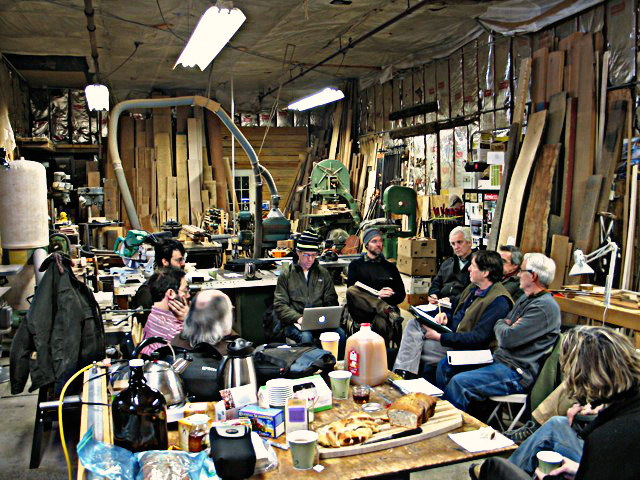 Vermont Furniture Makers Share Knowledge & Local Snacks