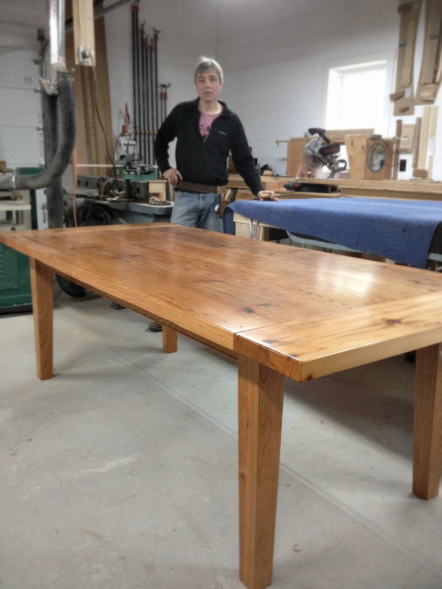 Custom Dining Table Handcrafted in Vermont