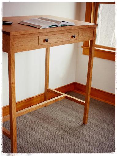 handmade cherry stand up desk