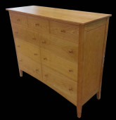 custom made cherry double dresser