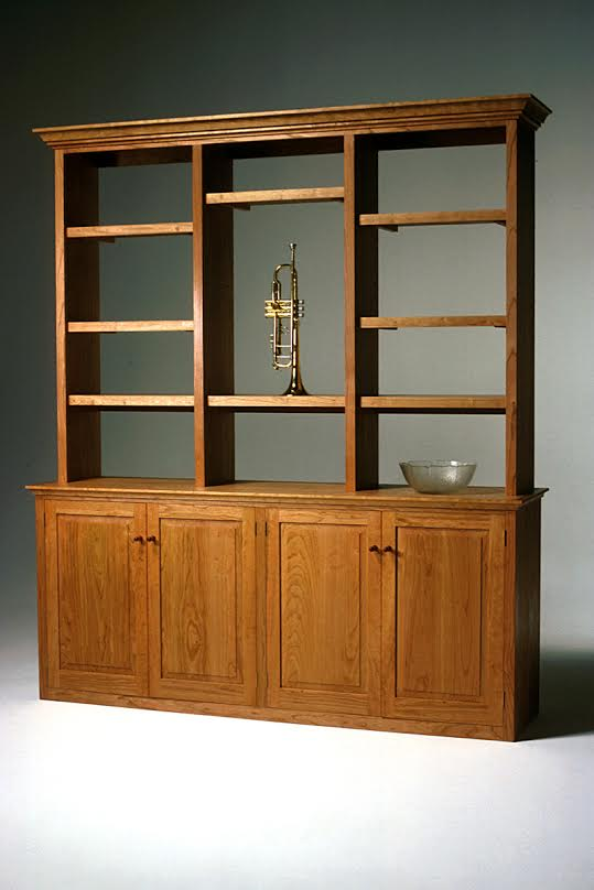 Handcrafted, Colonial Inspired Hutch, Jas. Becker Cabinetmaker
