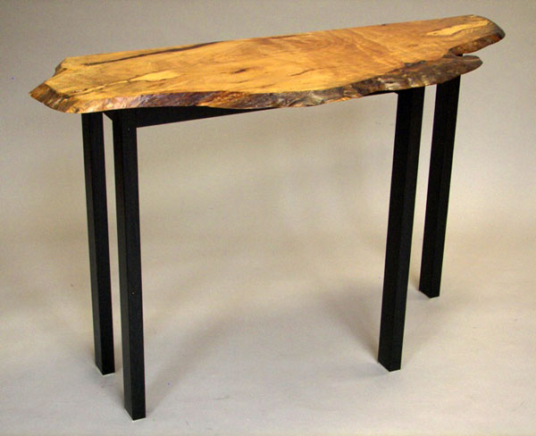 Live Edge Hall Sofa Table Guild Of Vermont Furniture Makers