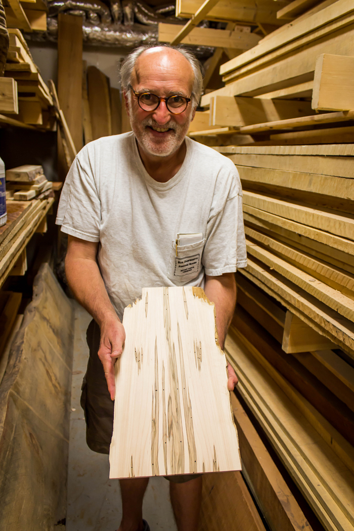 Guild of Vermont Furniture Makers President Bob Gasperetti in his Mount Tabor Workshop