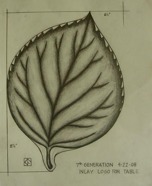Seventh Generation Leaf Sketch by Kerry Furlani