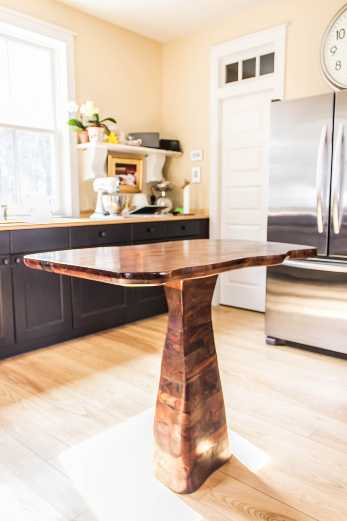 A New Kind of Kitchen Island, Organic and Handcrafted