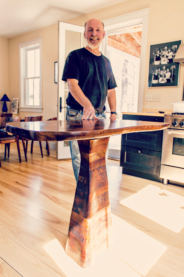 Guild of Vermont Furniture Makers Member Hugh Belton at home in Woodstock