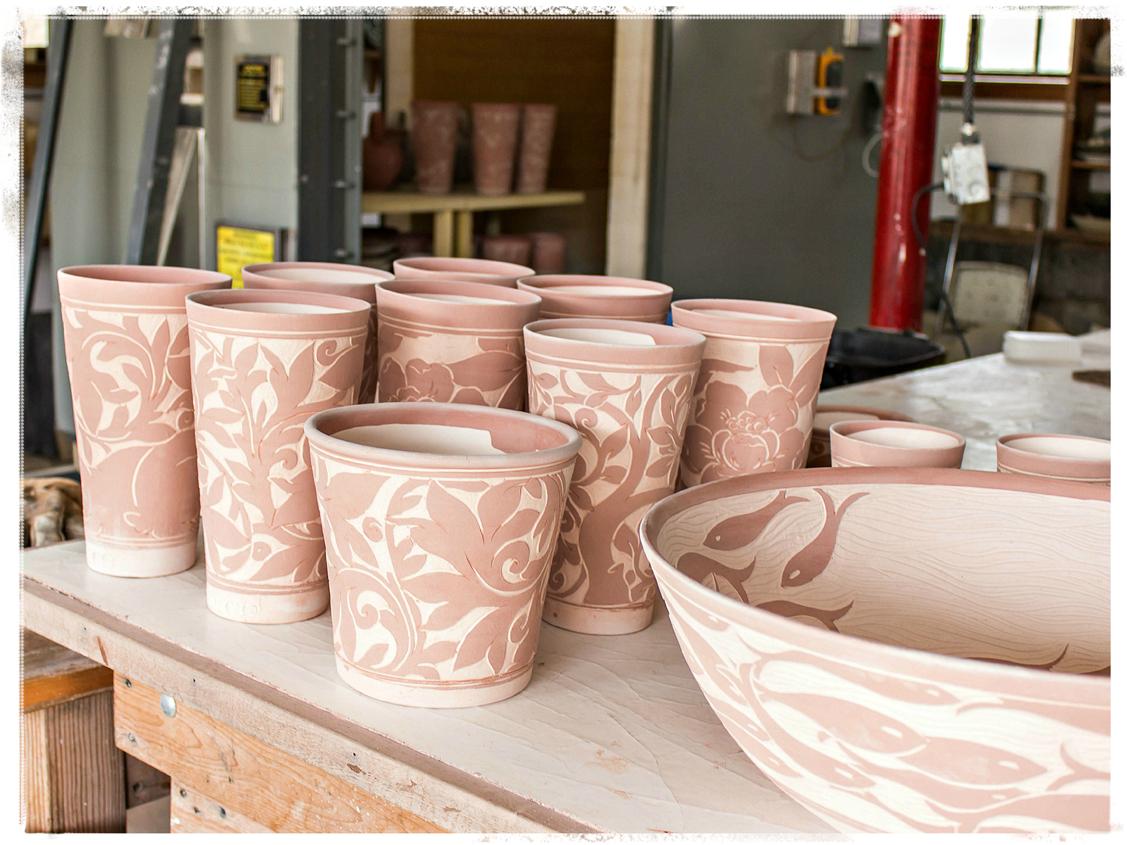 Miranda Thomas Pottery in Process