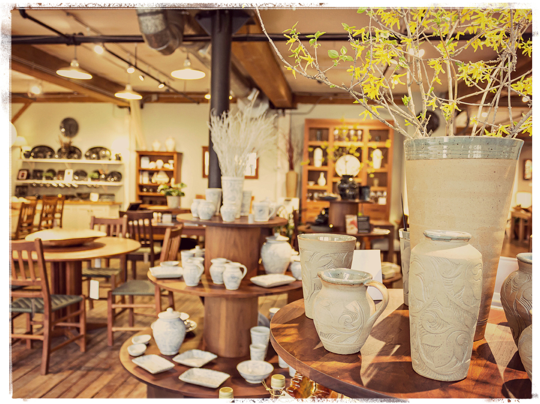 Handcrafted Furniture and Pottery at the Mill in Bridgewater