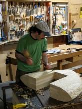 Guild member David Hurwitz at work in his Randloph VT studio