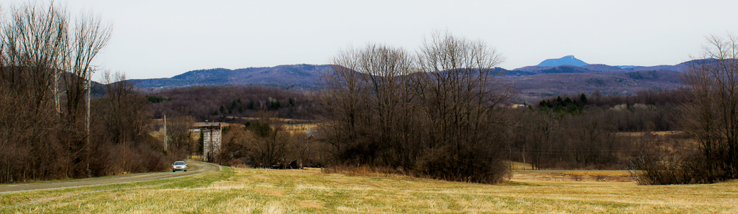 From the studio, a view toward Camels Hump