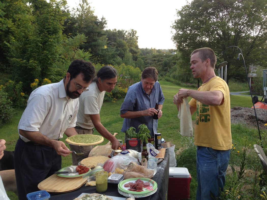 homemade pizza, summertime, vermont. perfection!