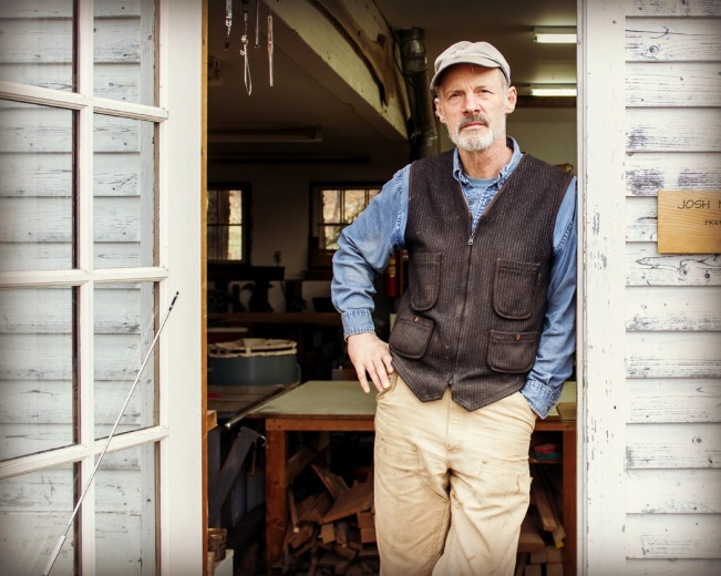 Vermont Furniture Maker Josh Metcalf in his Pomfret Studio