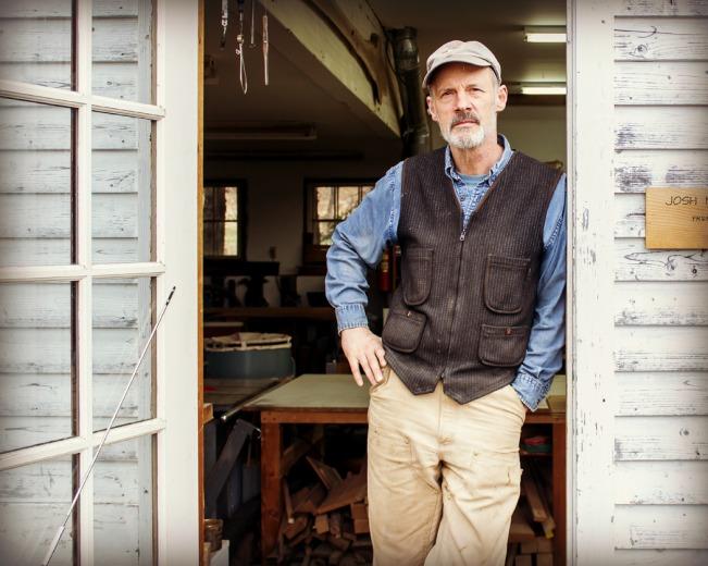 Vermont Furniture Maker Josh Metcalf in his Pomfret Studio