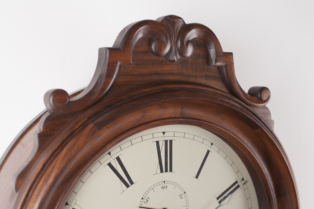 Handcarved Wall Clock, Chip Ogg